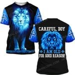 Hihi Store hoodie S / T Shirt Jesus God Christmas Gifts Careful Boy I am old for good reason ALL OVER PRINTED SHIRTS