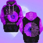 Hihi Store hoodie S / Hoodie Faith Hope Love Hodgkin's Lymphoma Cancer Awareness 082004