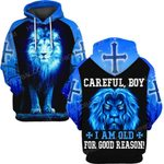 Hihi Store hoodie S / Hoodie Jesus God Christmas Gifts Careful Boy I am old for good reason ALL OVER PRINTED SHIRTS