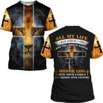 Hihi Store hoodie S / T Shirt Jesus ALl my life I have lived by a code and the code is simple Honor God ALL OVER PRINTD SHIRTS