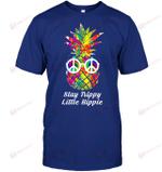 GearLaunch Apparel Unisex Short Sleeve Classic Tee / Deep Royal / S M010319 hippie stay trippy little hippie