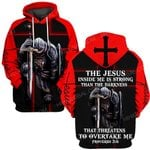Hihi Store hoodie S / Hoodie Jesus God Christmas Gifts The Jesus inside me is strong than the darkness that threatens to overtake me ALL OVER PRINTED SHIRTS