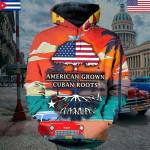 Hihi Store hoodie black / S 3d Hoodies American grown with Cuban roots