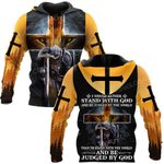 Hihi Store hoodie S / Hoodie Jesus God I would rather stand with God ALL OVER PRINTED SHIRTS