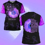 Hihi Store hoodie S / T Shirt Faith Hope Love Pancreatic Cancer Awareness 0819019