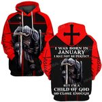 Hihi Store hoodie S / Hoodie Jesus God I was born in January I am a child of God ALL OVER PRINTED SHIRTS