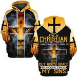 Hihi Store hoodie S / Hoodie Jesus I'm a Christian I am not perfect ALL OVER PRINTD SHIRTS