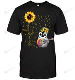 GearLaunch Apparel Unisex Short Sleeve Classic Tee / Black / S M041219  Hippie  You are my sunshine penguin