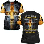 Hihi Store hoodie S / T Shirt Jesus God Our God is the lion ALL OVER PRINTED SHIRTS