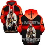 Hihi Store hoodie S / Hoodie The jesus is stronger than the darkness  ALL OVER PRINTD SHIRTS 090907