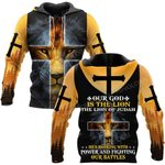 Hihi Store hoodie S / Hoodie Jesus God Our God is the lion ALL OVER PRINTED SHIRTS