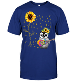 GearLaunch Apparel Unisex Short Sleeve Classic Tee / Deep Royal / S M041219  Hippie  You are my sunshine penguin