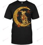 GearLaunch Apparel Unisex Short Sleeve Classic Tee / Black / S M030519  Dog  Pitbull the moon hippie