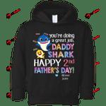 CustomCat Sweatshirts Black / 2T 2nd Father's Day Custom Rabbit Skins Toddler Fleece Hoodie