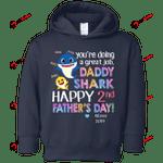CustomCat Sweatshirts Navy / 2T 2nd Father's Day Custom Rabbit Skins Toddler Fleece Hoodie