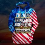 Hihi Store hoodie S / Hoodie US Firefighter I'm a Grumpy old Firefighter All Over Printed Shirts 062003