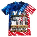 Hihi Store hoodie S / T Shirt US Firefighter I'm a Grumpy old Firefighter All Over Printed Shirts 062003