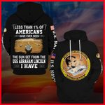 Hihi Store hoodie S / Hoodie US Navy USS Abraham Lincoln (CVN72) All Over Printed Shirts 052202
