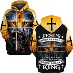 Hihi Store hoodie S / Hoodie Jesus comeback as a King  ALL OVER PRINTD SHIRTS 090607