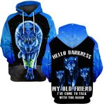 Hihi Store hoodie S / Hoodie Wolf Hello darkness my old friend  ALL OVER PRINTD SHIRTS 090604