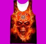 Hihi Store hoodie XXS / Tank Top Us Firefighter All Over Printed Shirts 060401