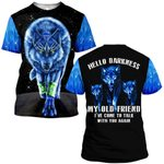 Hihi Store hoodie S / T Shirt Wolf Hello darkness my old friend  ALL OVER PRINTD SHIRTS 090604