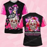 Hihi Store hoodie S / T Shirt Breast cancer awareness This warrior smiles back Death ALL OVER PRINTED SHIRTS