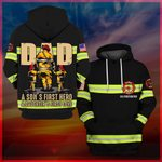 Hihi Store hoodie S / Hoodie Firefighter Dad a son's first hero a daughter's first love All Over Printed Shirts 053005