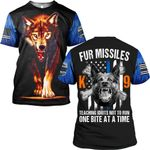 Hihi Store hoodie S / T Shirt Wolf Fur Missiles  ALL OVER PRINTD SHIRTS 090504