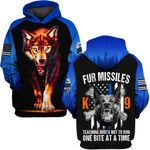Hihi Store hoodie S / Hoodie Wolf Fur Missiles  ALL OVER PRINTD SHIRTS 090504