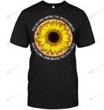 GearLaunch Apparel Unisex Short Sleeve Classic Tee / Black / S M010519  Hippie  You belong among the wild flower