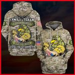 Hihi Store hoodie S / Hoodie Us Army I'm a grumpy old Army Veteran All Over Printed Shirts 053008