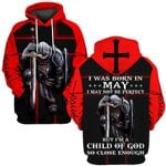Hihi Store hoodie S / Hoodie Jesus God I was born in May I am a child of God ALL OVER PRINTED SHIRTS