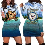 Hihi Store hoodie XS / Dress U.S. Navy Like the Army but for smart people All Over Printed Shirts 052201