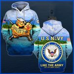 Hihi Store hoodie S / Hoodie U.S. Navy Like the Army but for smart people All Over Printed Shirts 052201