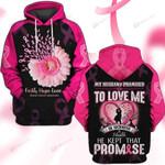 Hihi Store hoodie S / Hoodie Faith Hope Love Breast Cancer Awareness 081304