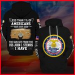 Hihi Store hoodie S / Hoodie US Navy USS John C. Stennis (CVN 74) All Over Printed Shirts 052206