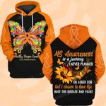 Hihi Store hoodie S / Hoodie Faith Hope Love MS Awareness is a journey I never planned ALL OVER PRINTED SHIRTS