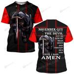Hihi Store hoodie S / T Shirt Jesus God November guy The devil saw me until I said Amen ALL OVER PRINTED SHIRTS