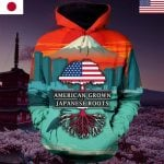 Hihi Store  hoodie black / S 3d Hoodies American grown with Japanese roots