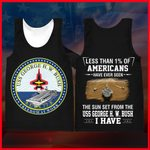 Hihi Store hoodie XXS / Tank Top US Navy  USS George H. W. Bush (CVN 77) All Over Printed Shirts 052203