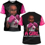 Hihi Store hoodie S / T Shirt Breast cancer awareness Like a girl ALL OVER PRINTED SHIRTS