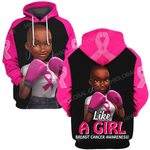 Hihi Store hoodie S / Hoodie Breast cancer awareness Like a girl ALL OVER PRINTED SHIRTS