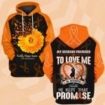 Hihi Store hoodie S / Hoodie Faith Hope Love MS Awareness 082101