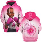 Hihi Store hoodie S / Hoodie Faith Hope Love Breast Cancer Awareness 082005