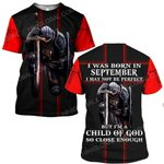 Hihi Store hoodie S / T Shirt Jesus God I was born in September I am a child of God ALL OVER PRINTED SHIRTS