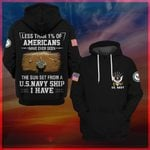 Hihi Store hoodie S / Hoodie The sun set from a US Navy ship All Over Printed Shirts 050401