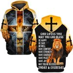Hihi Store hoodie S / Hoodie God love you may you God bless  ALL OVER PRINTD SHIRTS