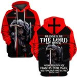 Hihi Store hoodie S / Hoodie God Jesus trains my hands for war and my fingers for battle  ALL OVER PRINTED SHIRTS