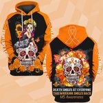 Hihi Store hoodie S / Hoodie MS awareness This warrior smiles back Death ALL OVER PRINTED SHIRTS